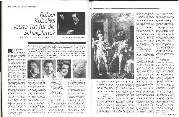 Rafael Kubelíks letzte Tat für die Schallplatte?