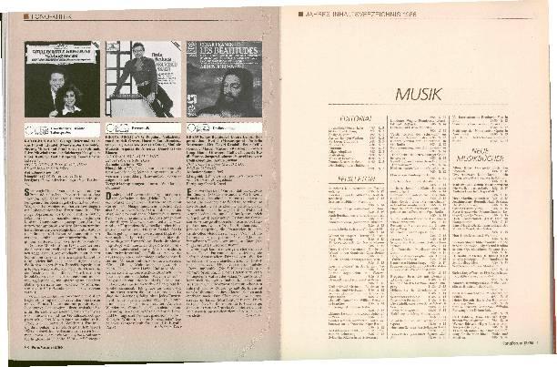 Jahres-Inhaltsverzeichnis 1986