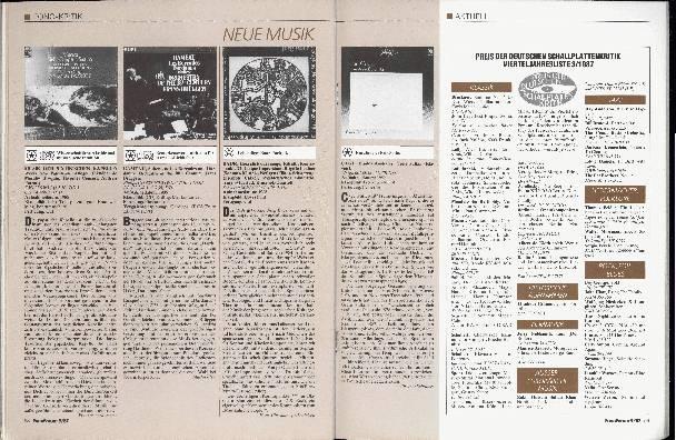 Preis der Deutschen Schallplattenkritik 3/1987