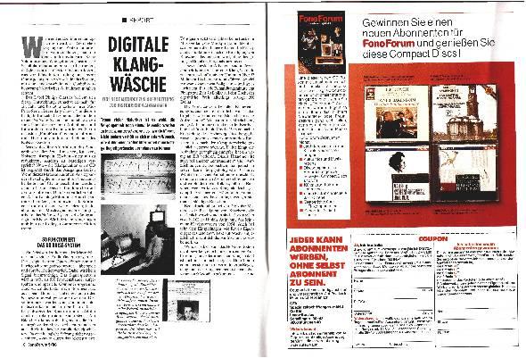 Digitale Klangwäsche
