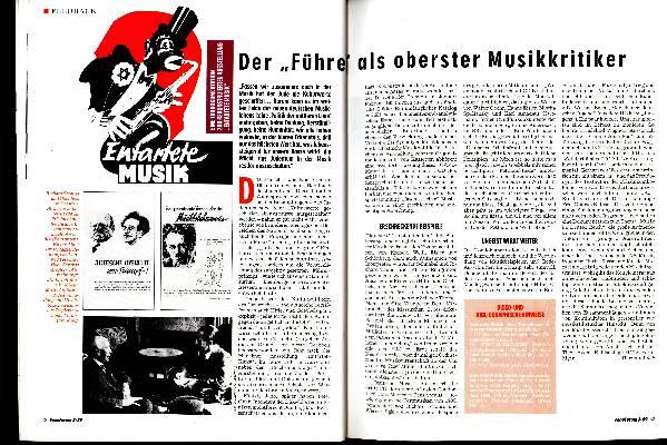 """Der """"Führer"""" als oberster Musikkritiker"""