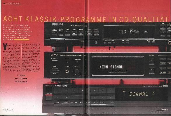 Acht Klassik-Programme in CD-Qualität