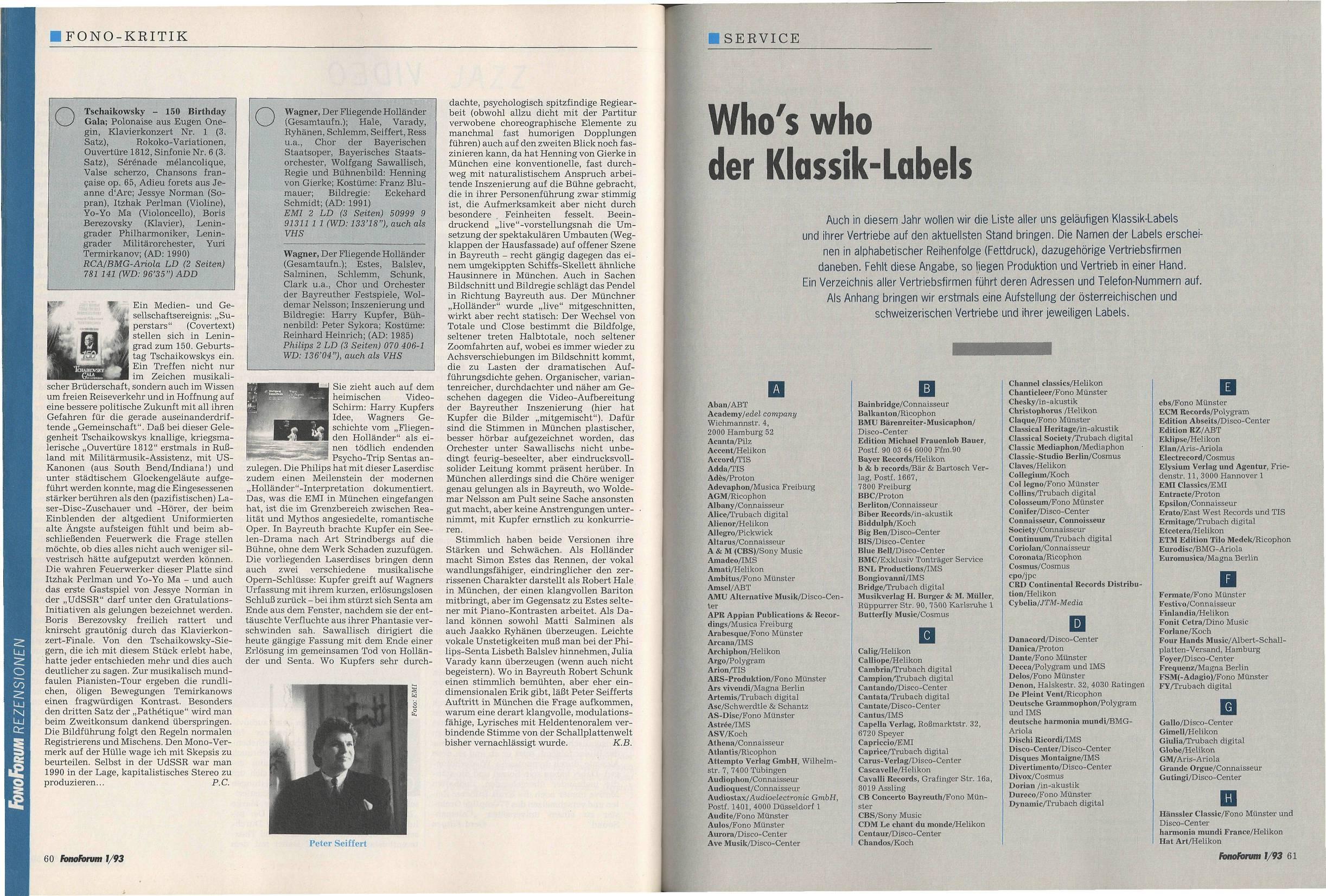 Who's who der Klassik-Labels