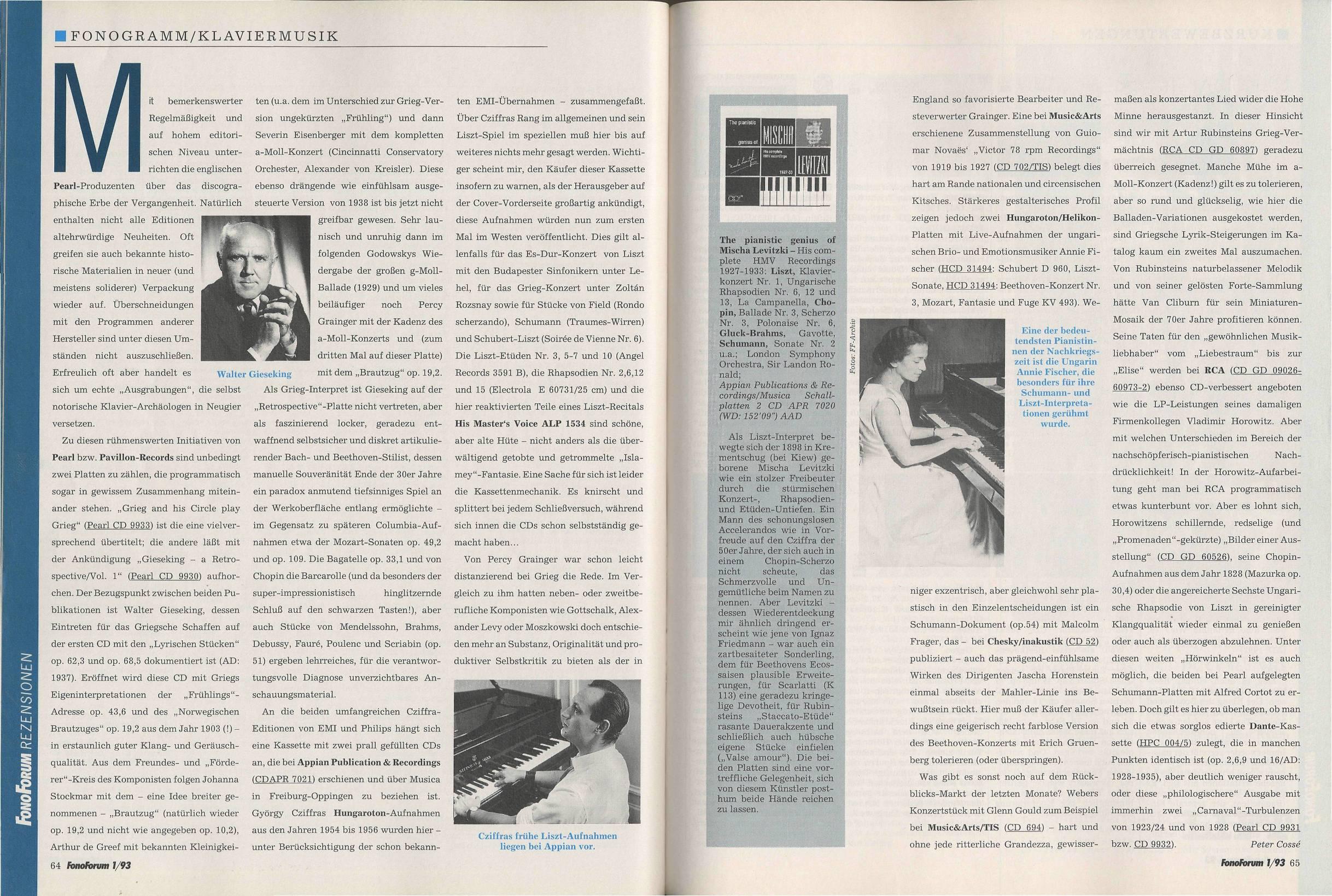 Fonogramm/Klaviermusik