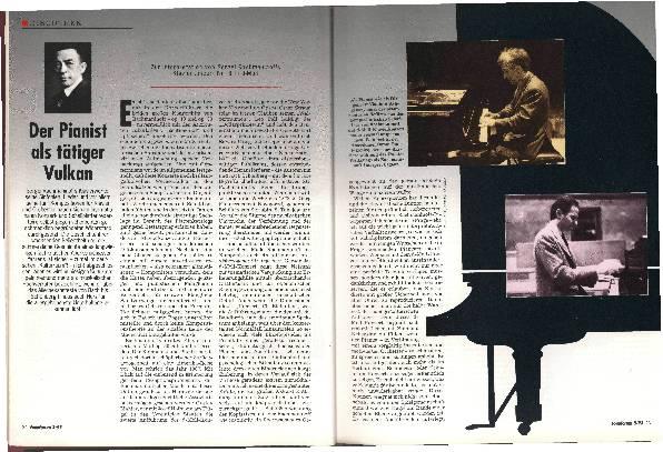 Der Pianist als tätiger Vulkan