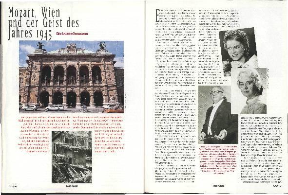 Mozart, Wien und der Geist des Jahres 1945