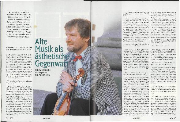Alte Musik als ästhetische Gegenwart