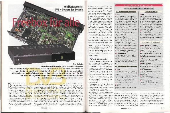 Rundfunksysteme: DVB-System der Zukunft