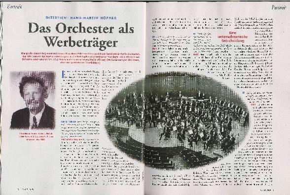 Das Orchester als Werbeträger