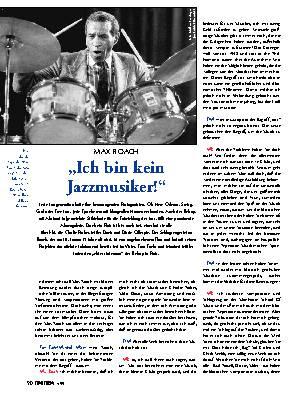 Ich bin kein Jazzmusiker!