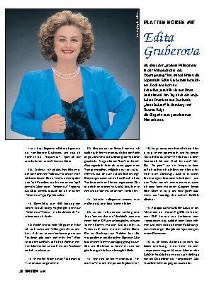 Platten hören mit Edita Gruberova