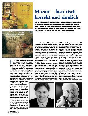 Mozart - historisch korrekt und sinnlich