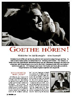 Goethe hören!