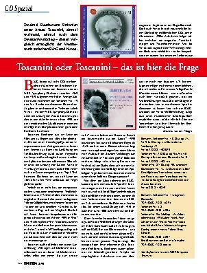 Toscanini oder Toscanini - das ist hier die Frage