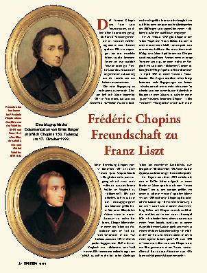 Frédéric Chopins Freundschaft zu Franz Liszt