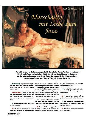 Marschallin mit Liebe zum Jazz