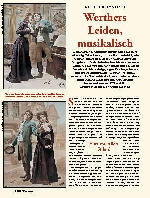 Werthers Leiden, musikalisch