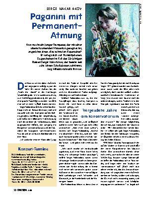Paganini mit Permanent-Atmung