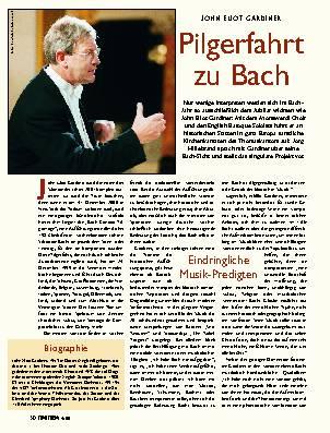 Pilgerfahrt zu Bach