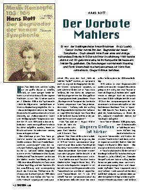 Der Vorbote Mahlers