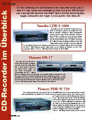 CD-Recorder im Überblick