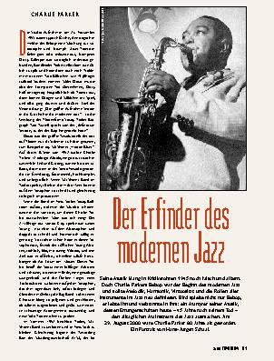 Der Erfinder des modernen Jazz