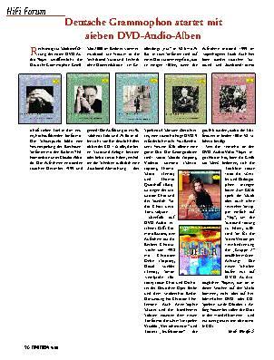Deutsche Grammophon startet mit sieben DVD-Audio-Alben