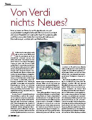 Von Verdi nichts Neues?
