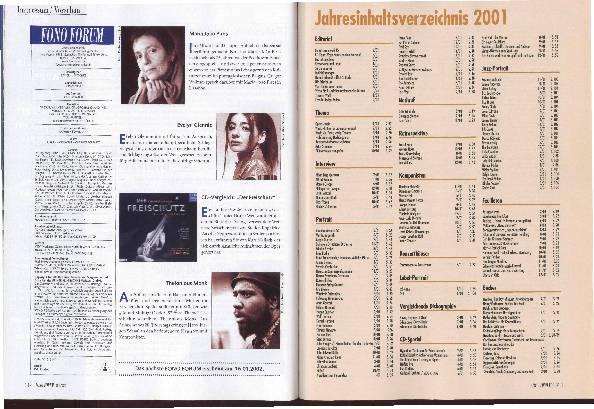 Jahresinhaltsverzeichnis