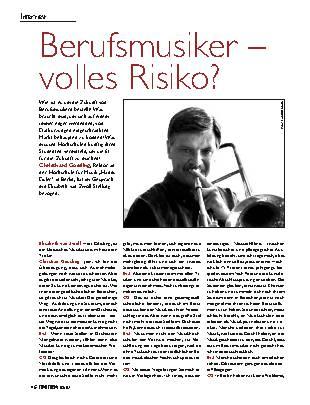 Berufsmusiker - volles Risiko?