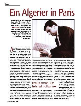 Ein Algerier in Paris