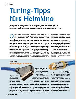 Tuning-Tipps fürs Heimkino