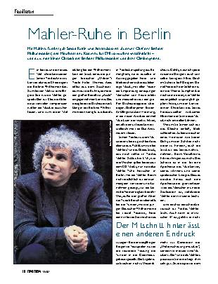 Mahler-Ruhe in Berlin