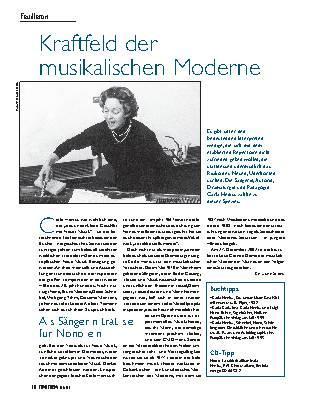 Kraftfeld der musikalischen Moderne