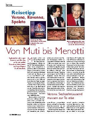 Von Muti bis Menotti