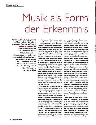 Musik als Form der Erkenntnis