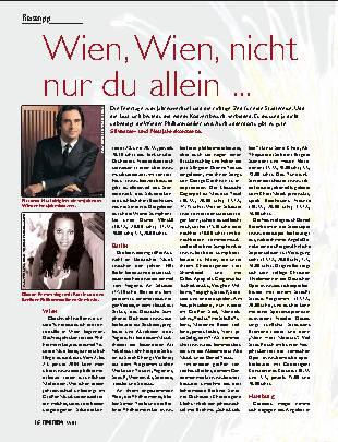 Wien, Wien, nicht nur du allein ...