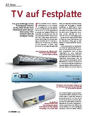 TV auf Festplatte