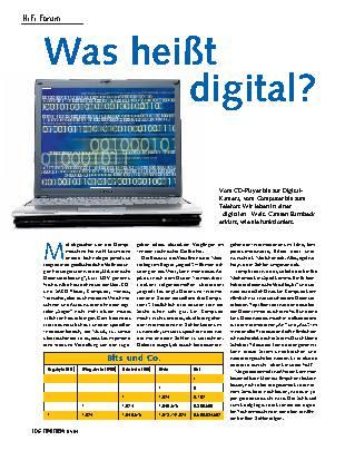 Was heißt digital?