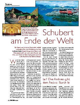Schubert am Ende der Welt