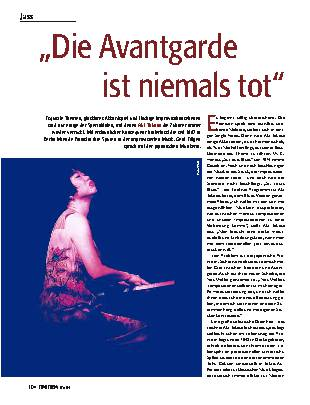 Die Avantgarde ist niemals tot
