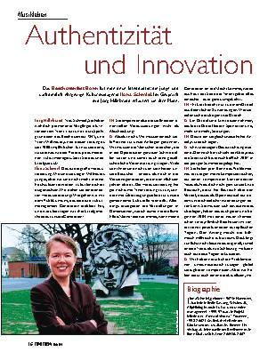 Authentizität und Innovation