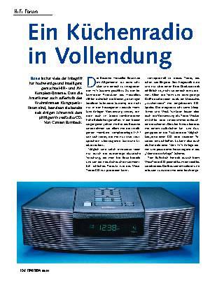 Ein Küchenradio in Vollendung