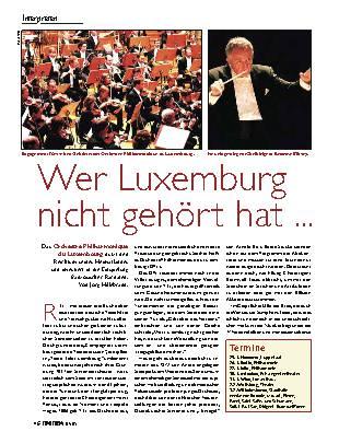 Wer Luxemburg nicht gehört hat ...