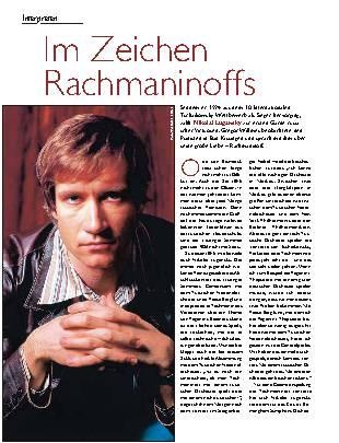 Im Zeichen Rachmaninoffs
