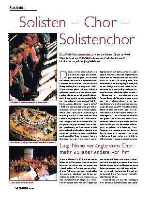 Solisten - Chor - Solistenchor
