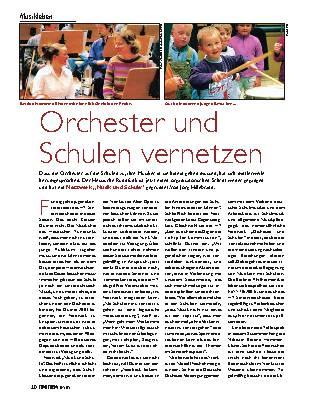 Orchester und Schulen vernetzen