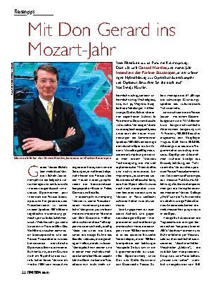 Mit Don Gerard ins Mozart-Jahr