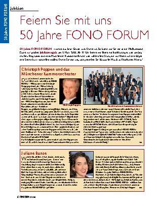 Feiern Sie mit uns 50 Jahre Fono Forum