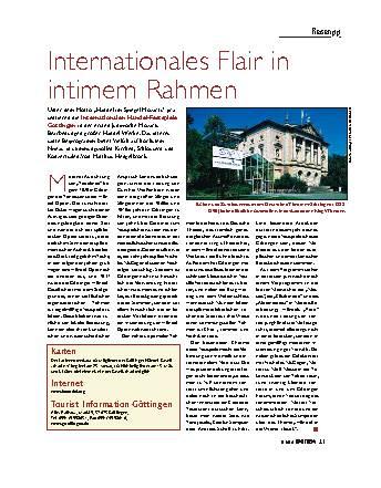 Internationales Flair in intimem Rahmen